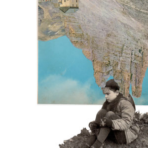 collage art photomontage gif visual poetry solitude kid