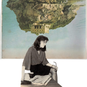collage art photomontage gif visual poetry solitude office