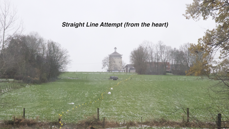 Griet Dobbels video art land art straight line attempt experience