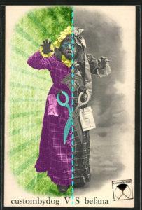 postcard custombydog fashion restyling collage befana