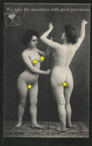 postcard custombydog fashion restyling collage nudes stars naked measures