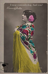 postcard custombydog fashion restyling collage flamenco carmen