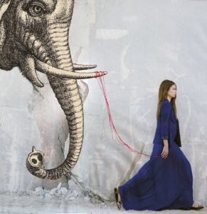 collage art photomontage gif vogue elephant